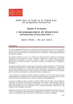 APPEL A PROJETS « ACCOMPAGNEMENT DE DEMARCHES COLLECTIVES D'ENTREPRISES »